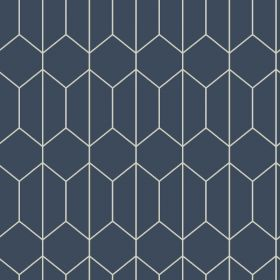 Arthouse Linear Geometric Navy Wallpaper - 909702