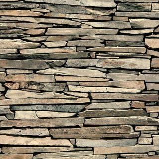 Muriva Stone Stacked Slate Wallpaper 3D Effect - J87227
