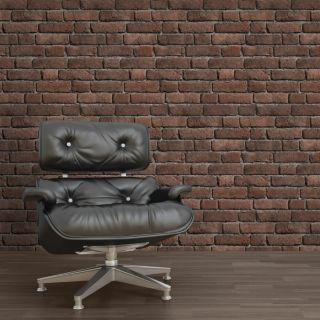 Muriva Brick Red 3D Effect Wallpaper- 161501