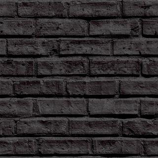 Arthouse VIP Black Brick Wallpaper 623007 - Feature Wall Brick Faux Stone Effect