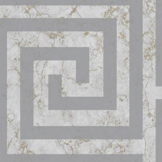 Debona Athena Greek Key Marble Grey Wallpaper - Greek Key 4018