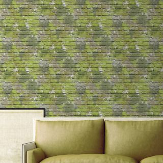 Muriva Ugepa Camouflage Green Wallpaper L33504 Novelty Feature Faux Wall
