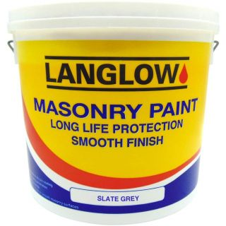 Langlow Palace Masonry Paint Slate Grey 10L