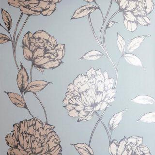 Pretty Floral Soft Blue 688002