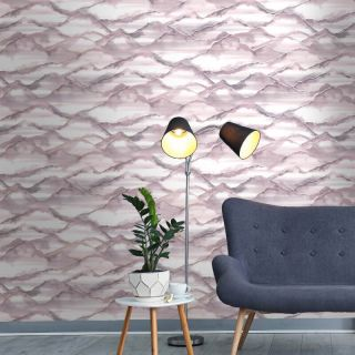 Holden Décor Elias Marble Effect Pink New Style Wallpaper 90511