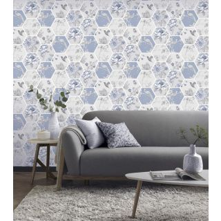 Chinoise Decoupage Blue 908903