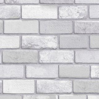 Arthouse Diamond Brick Silver Glitter Wallpaper 669401