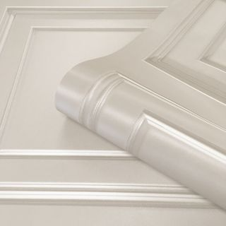 Amara Wood Panel Wallpaper Cream by Belgravia Decor GB 7373