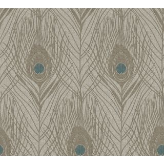 Absolutely Chic AS369716 Brown Feather/Luxury wallpaper