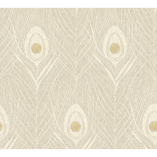 Absolutely Chic AS369717 Beige Feather/Luxury Wallpaper