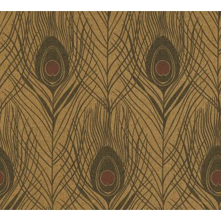 Absolutely Chic AS369718 Brown Feather/Luxury Wallpaper