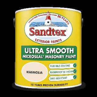 Sandtex Ultra Smooth Masonry Paint Magnolia 2.5L