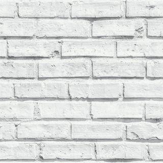 Arthouse Wallpaper Arthouse VIP White Brick Whitewashed 623004 White