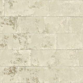Rasch Portfolio Concrete Brick Neutral Metallic Wallpaper - 248692