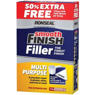 Ronseal Smooth Finish Multi-Purpose Interior Wall Powder Filler 500g