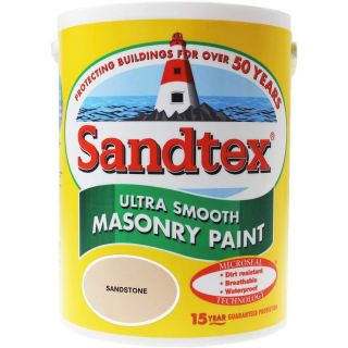 Sandtex Ultra Smooth Masonry Paint Sandstone 5L
